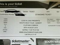 SW 4 Chemical Brothers South West Four 2 tickets sunday 28th August 2016 face value