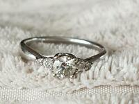 18k white gold 1ct diamond engagement ring for sale