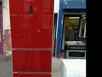 Red becko fridge freezer