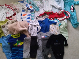 0-3 months baby clothes lot