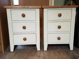 Pair of Brand new cream bedside cabinets