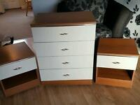 Chest of Drawers with 2 matching bedsides