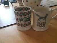 Emma Bridgewater 1/2 Pint Joy Mug and 1/2 Pint Silver Fox Mug
