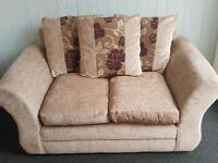 2 × 2 seater scatter back sofas