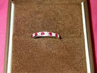 Beautiful diamond and ruby eternity ring wedding ring