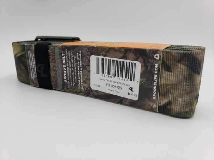 GROOVE LIFE BELT B2-003-OS GUN METAL/BLACK NEW IN A BOX ONE SIZE FITS MOST