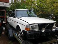 Volvo 240 gl se turbo breaking ford recaros bilstein etc