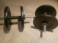 dumbbells weights 15kg 30kg in total with collars