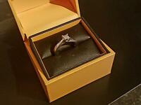 18 carrot white gold princess cut engagement ring