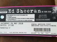 4 x ed sheeran tickets eithad stadium