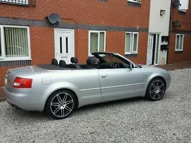 Audi a4 v6 convertable 54 plate full service history £3295
