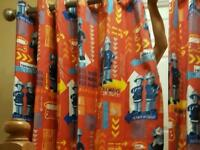 Fireman Sam curtains
