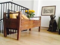 Antique genuine crib (early 1900) converted for plants
