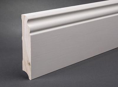 Fußleiste Sockelleiste Kiefer massiv Bremer Profil 19x120 mm weiß lackiert