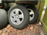 Jeep 255/70 R18 wheels and tyres x5