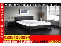 **** WOW FREE DELIVERY *** SINGLE DOUBLE KING SIZE LEATHER BEDDING...CALL NOW