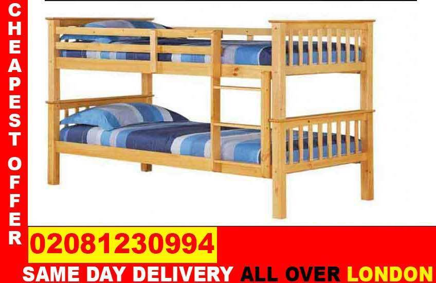 FREE DELIVERYDouble Single WOODEN Bunk Base, That convert into twoBeddingCALL NOWin Old Street, LondonGumtree - Brand New Furniture saleAll types of furniture available. Bed, sofa, wardrobe, bunk bed, dining set, coffee tables.Just a call and we will assist you