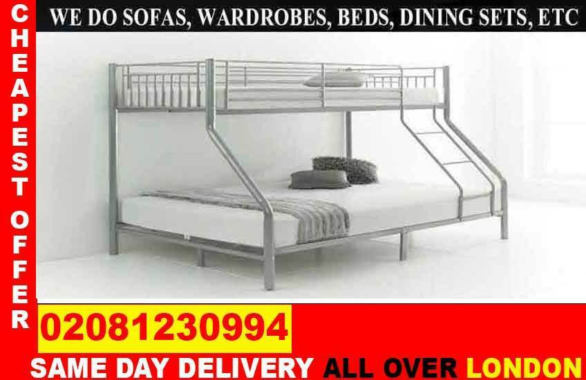 CASH ON DELIVERYBrand New bunkSingle Double /Small Double/ Kingsize BeddingCall Noin Stratford, LondonGumtree - Brand New Furniture saleAll types of furniture available. Bed, sofa, wardrobe, bunk bed, dining set, coffee tables.Just a call and we will assist you
