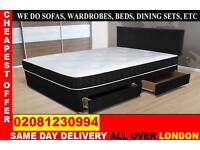 *** WOW FREE DELIVERY *** SINGLE DOUBLE SMALL DOUBLE KING SIZE BEDDING BASE ..CALL NOW
