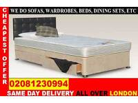 **** WOW FREE DELIVERY *** SINGLE DOUBLE SMALL DOUBLE KING SIZE BEDDING BASE