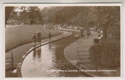 Dorset Postkarte - Kinder Ecke, The Gardens, Bournemouth - P/U 1931 (A1094)