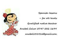 Anabel Calvo Qualified Spanish Native Teacher all levels