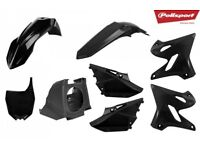 YZ 125 250 15-17 Conversion kit For 02-14 Bike Plastics Kit Restyle Airbox Black