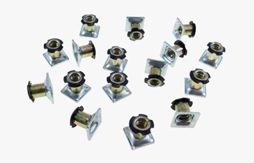 "16 Pack Threaded Star Type 5/8""(OD) Square Tubing Insert 1/4-20 Threads  S71-204"