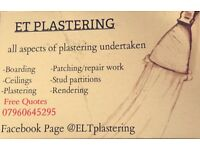 E&T Plastering, Free quotes