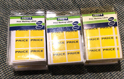 Lot Of 1700 Garage Yard Sale Rummage Stickers Price Labels