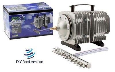 NEW COMMERCIAL AIR PUMP-HYDROPONIC-AQUARIUM-Fish-POND 18-200 Watt with Manifold!