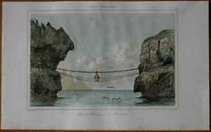1840 print ROPE BRIDGE, LERWICK, SHETLAND ISLANDS