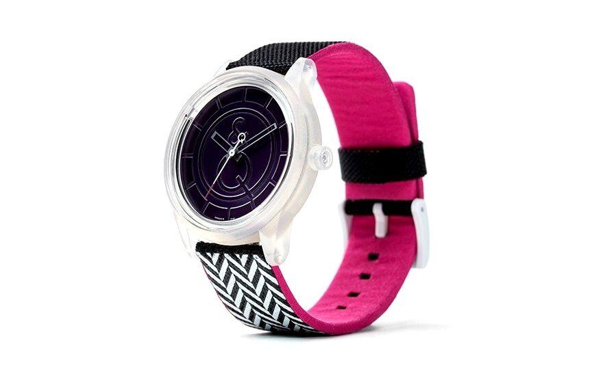 Q&Q NEW Q&Q RP00J0015Y Purple Dial Solar Powered PET Fabric Strap Grey Unisex Watch at Sears.com