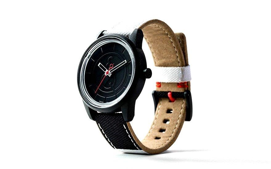 Q&Q NEW Q&Q RP00J009Y Black Dial Solar Powered PET Fabric Strap Black Unisex Watch at Sears.com