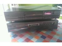 Technics cd player and minidisc player separates