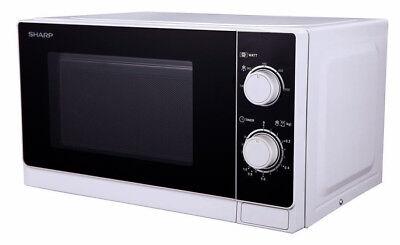 Sharp Solo Mikrowelle 800 Watt 5 Leistungsstufen, R-200WW, Weiß