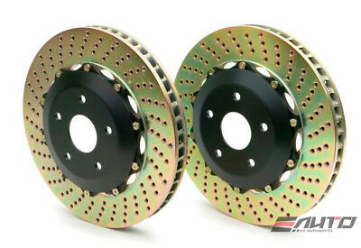 BREMBO REAR 2-piece ROTOR DISC UPGRADE 332x32 DRILL F40 2 Piece Drilled Discs