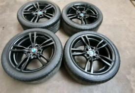 GENUINE ORIGINAL BMW 5 series f11 400M ALLOY WHEELS AND TYRES