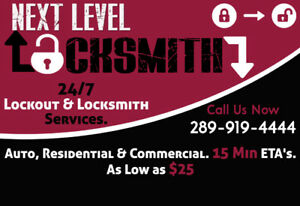Lockout & Locksmith Services - Hamilton, Burlington