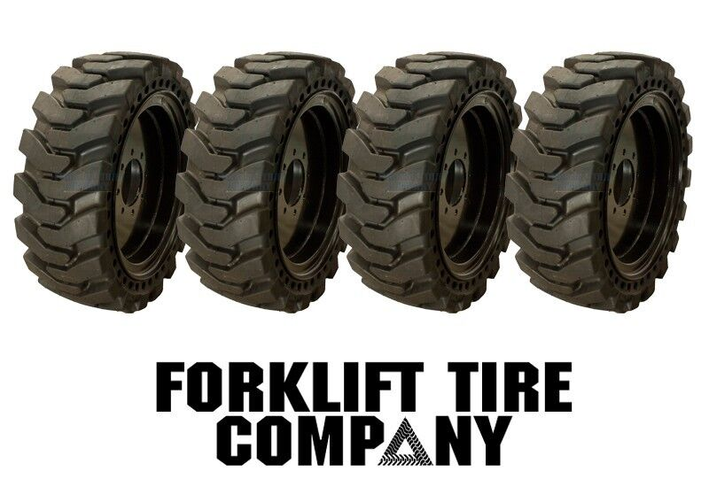 10x16.5 Skidsteer Solid Tires And Wheels (set Of 4) 31x10x20 Fits Bobcat  S150