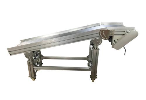 "110V 120W 47.2""&11.8"" Electric PVC Belt Inclined Conveyor Machine Ramp Conveyor"