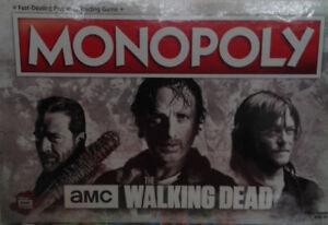 WALKING  DEAD MONOPOLY GAME
