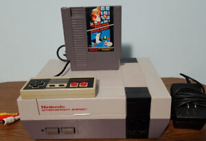 NES with 1 Controller and 1 Game