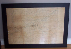 Sussex NB, Framed 1941 Map of Area including the Military Base