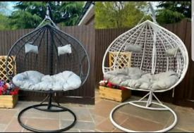 NEW RATTAN EGG CHAIRS
