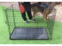 Large dog crate kennel etc side door and front openings