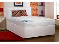 luxury double bed with thick mattress special offer price 99.00 can deliver