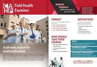 Certified FIELD HEALTH EXAMINER for IMGs/ Healthcare March 3