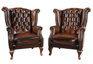 Warehouse clearance, NEW 100%Leather Chesterfield Sofa Set 2left