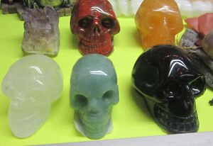 Beautiful Earth Stone Carved Skulls
